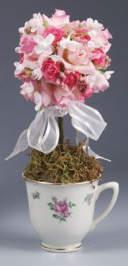 I always like tea cup topiaries ..