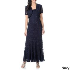 R & M Richards Women's Lace Overlay Jacket and Evening Gown Set | Overstock.com Shopping - Top Rated R & M Richards Evening & Formal Dresses