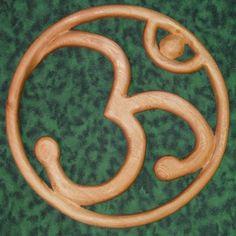 OM-AUM- Sanskrit-Hindu-Yoga-Chant-Meditation Mantra-Wood Carving   signsofspirit - Woodworking on ArtFire