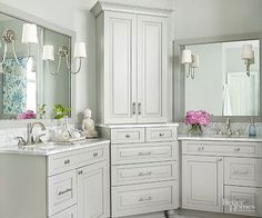 White is nice, but gray is gorgeous. The moody hue has quickly become the new neutral, and it looks equally ravishing on cabinetry, flooring, and wall treatments. Prevent the color from feeling cold with splashy metallic accessories, pops of crisp white, and warm, rustic accents./