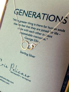 Beautiful. Too expensive. Generations Necklace. Family. Sisters. Mother. by erinpelicano, $45.00