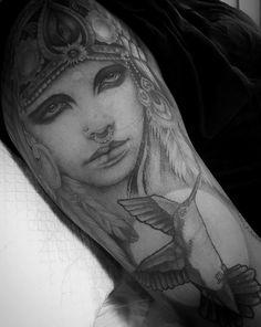 Ink Instagram, Grey Scale, Black Ink Tattoos, Indian Gods, Photo And Video, Portrait, Portrait Illustration, Portraits, Head Shots