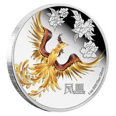 1 oz. Fine Silver Coloured Coin – Feng Shui: Phoenix (2015)