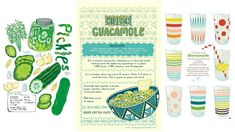 Recipe Tea Towels - also sketch up ideas from recipe book. Fat Quarter Projects, Holy Guacamole, Fat Quarters, Project Yourself, Wonderful Things, Tea Towels, Spoonflower, Recipe, Sewing