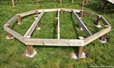 Créer une terrasse en bois : le pas à pas #DIY                                                                                                                                                                                 Plus