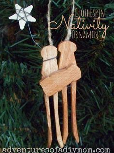 Clothespin Nativity Ornament From Adventures Of A DIY Mom