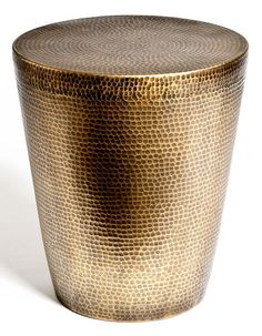 Studio A hammered brass side table $822.50