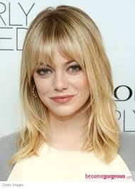 Image result for mid length hair with fringe
