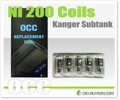 Kanger Subtank Nickel (Ni-200) Coils – Just $15.25: http://www.cigbuyer.com/kanger-subtank-ni-200-nickel-coils/ #kanger #subtank #ni200 #nickelcoils #vapelife #vapedeals