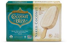 Luna & Larry's Coconut Bliss Naked Coconut bars non-dairy ice cream
