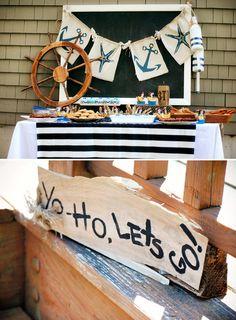Shipwreck Inspired Backyard Pirate Party