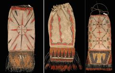 pipebags, Great Lakes, 18th century. Branly