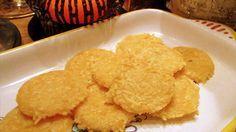 HOMEMADE CHEESE CRISPS! Zero carbs, great crunch.