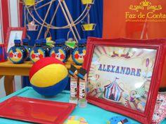 porta retrato circo