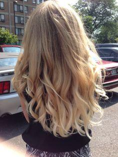 Ombré blond hair