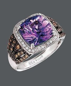 Amethyst & chocolate (diamonds) by my favorite Le Vian!!! Hopefully i can get for graduation!!!