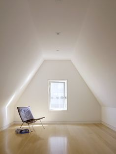 Simple walls and wood flooring