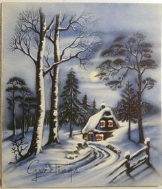 Vintage Christmas Card 1930s