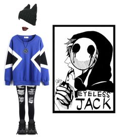 """Eyeless Jack"" by hailstone360 ❤ liked on Polyvore featuring Glamorous, Converse, women's clothing, women's fashion, women, female, woman, misses and juniors"