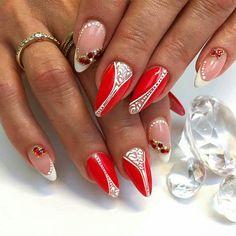 Beautiful Nail Art, Almond Nails, Love Nails, Manicures, Nails Inspiration, Nail Art Designs, Eyebrows, Lips, Make Up