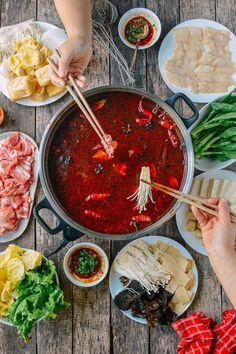 Hot pot is a great meal to make, especially during the colder months. Find out how to assemble a spicy soup base and an authentic Chinese hot pot at home. @thewoksoflife1