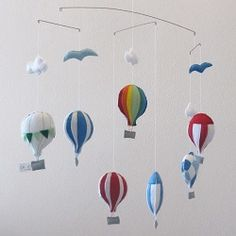 Hot Air Balloon felt mobile . Order one at www.for-example.co.za