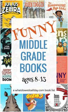 Funny Middle Grade Books: Hilarious Reads for ages Funny children's books. These hilarious middle grade books are good for kids ages Middle School Boys, Middle School Reading, 4th Grade Reading, Kids Reading, Funny Books For Kids, Books For Boys, Funny Kids, Childrens Books, Kid Books