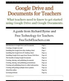 Google Drive and Docs for Teachers 2012: The basics of how to set up a google drive account.