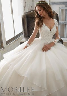 """Morilee by Madeline Gardner """"Maya"""" Style 5517 
