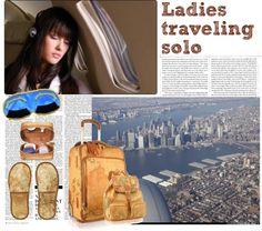 """Ladies traveling solo"" by elenastrelkova on Polyvore"