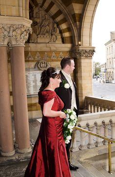 A beautiful bespoke wedding dress designed for an autumn wedding www.lesleycutlerbridalwear.co.uk