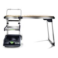 Turn any site into your shop with the Festool Mobile Workshop. Efficiently organize and store tools and accessories with the onboard pullout drawer and base, which both accept systainer®. Festool Tools, Mobile Workshop, Kitchen Cart, Wood Crafts, Decor, Work Shop Garage, Decoration, Wood Turning, Woodworking Crafts