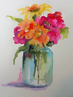 25 Beautiful Watercolor Flower Painting Ideas & Inspiration Painting with watercolors can be difficult. Luckily, here's a list of 25 Beautiful Watercolor Flower Painting Ideas and Inspiration. Easy Watercolor, Watercolour Painting, Watercolors, Flower Watercolor, Watercolor Pictures, Watercolor Water, Watercolor Artists, Watercolor Portraits, Watercolor Landscape