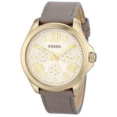 Fossil Women's AM4529 'Cecile' Grey Leather Watch - Overstock™ Shopping - Big Discounts on Fossil Fossil Women's Watches