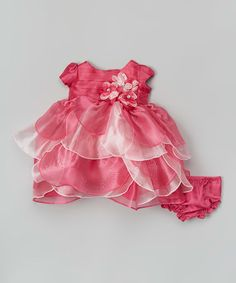 Loving this Pink Tiered Dress - Infant & Girls on #zulily! #zulilyfinds
