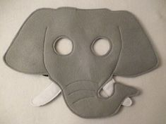 Hand finished Elephant mask/toy/dress up/costume for children