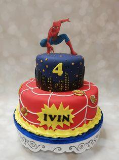 Spiderman Birthday Cake, Desserts, Food, Tailgate Desserts, Deserts, Eten, Postres, Dessert, Meals