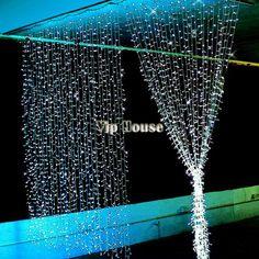 wholesale 3Mx3M 400LED Outdoor Christmas xmas String Fairy Wedding Curtain Light With Tail Plug EU/220V White TK1196 US $24.00
