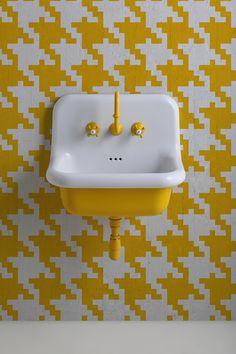 Lavabo True Colors 60 cm jaune en céramique