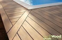 Lames composites couleur sable Lame Composite, Pose, Tile Floor, Flooring, Outdoor Decor, Home Decor, Garden, Tropical Pool, House