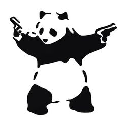 This banksy inspired vinyl decal is a must have for any graffiti/art lover. Banksy is a world renowned street artist that is envied by many. Banksy Panda, Banksy Monkey, Panda Logo, Art Banksy, Bansky, Banksy Quotes, Banksy Tattoo, Banksy Prints, Banksy Stencil