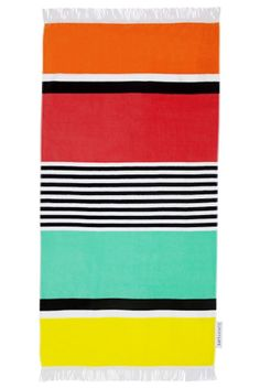 Luxe Towel -Avalon Print 35.5 x 68.9 inches  Cotton Bright Colored Premium, Oversized, Velour-Finished Terry Beach Towel