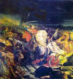 1380 - Batalla de Kulikovo tuvo lugar entre los tártaros y los mongoles de la Horda de Oro contra los rusos. Golden Horde, Grand Palais, Blessed Virgin Mary, Great Stories, Artist Names, Roman Catholic, Our Lady, Art History, The Incredibles