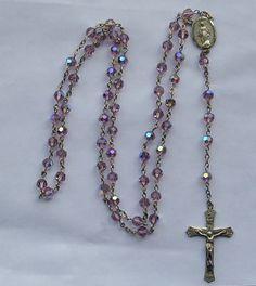 vintage AB amethyst crystal rosary