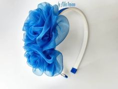 Ribbon Headbands, Ribbon Hair Bows, Floral Headbands, Ribbon Art, Fabric Ribbon, Fabric Flowers, Flower Hair Accessories, Diy Hair Accessories, Hand Embroidery Flowers