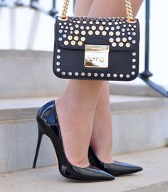Jimmy Choo heels and Michael Kors bag