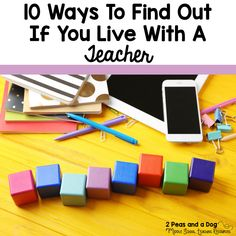 Teacher humor is needed to get through the hectic school season. Check out the 10 ways below to see if you live with a teacher! Teacher Humour, Teaching Humor, My Teacher, Teaching Resources, Get To Know Me, How To Find Out, School Humor, Funny School, School Stuff