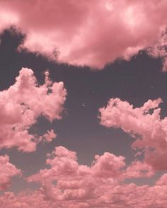ImageFind images and videos about pink, sky and clouds on We Heart It - the app to get lost in what you love. Angel Aesthetic, Sky Aesthetic, Aesthetic Colors, Aesthetic Pictures, Aesthetic Painting, Aesthetic Pastel, Pink Clouds, Pink Sky, Pink Moon