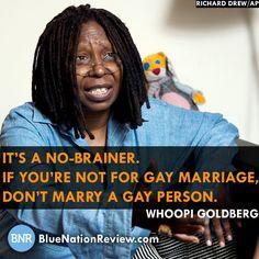 Whoopi Goldberg on gay marriage.