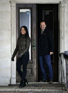 Sherlock Holmes (Jonny Lee Miller) and Joan Watson (Lucy Liu)